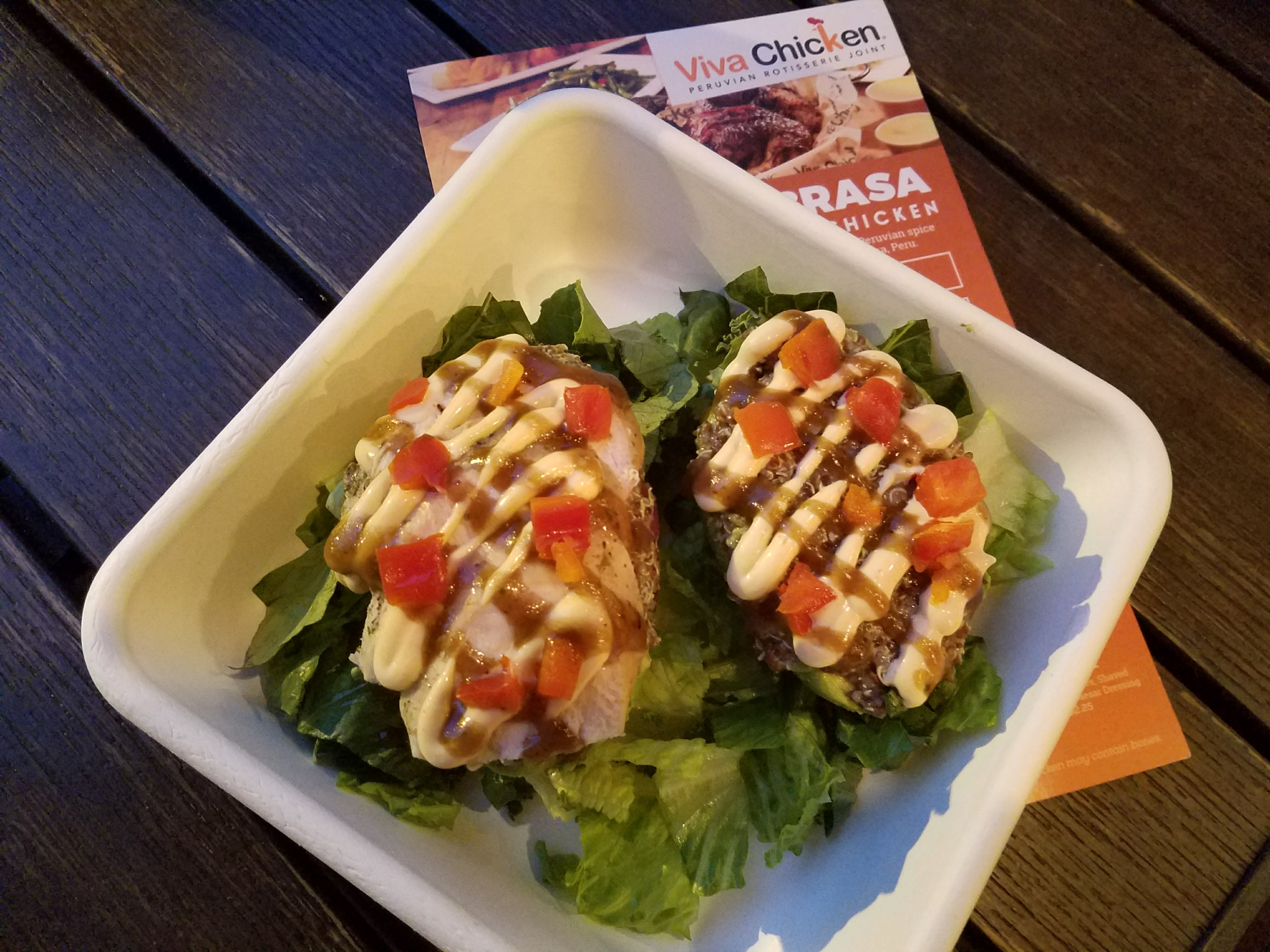 Viva chicken menu review rotisserie chicken charlotte nc the quinoa stuffed avocado is by far one of our favorite items on the menu and its not just our opinion viva chicken sells more than 120000 quinoa forumfinder Images
